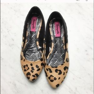 Betseyville Leopard Quilted Black Flats